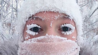 Even the eyelashes freeze: Russia sees minus 67 degrees C