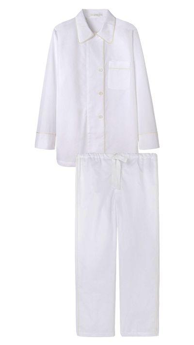 "<p><a href=""http://www.lagarconne.com/store/item/234/25313/Araks-Kate-Pajama-Shirt.htm#image_tiger_5"">Kate Pajama Shirt, $274</a>, and <a href=""http://www.lagarconne.com/store/item/234/25314/Araks-Ally-Pajama-Pants.htm#image_tiger_4"">Ally Pajama Pants, $188</a>, Araks</p>"