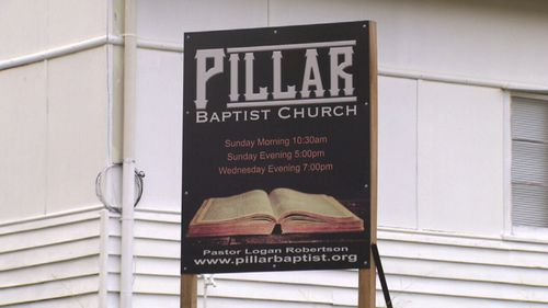 """The """"pastor"""" claims be from the Pillar Baptist Church."""
