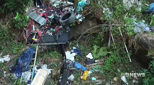 Illegal dumping in remote areas often goes unnoticed. (9NEWS)