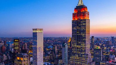 The view of the Empire State Building and The Langham Hotel (home to Ai Fiori Restaurant) in NYC