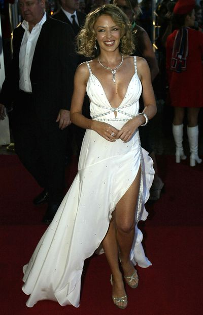 Kylie Minogue at the 16th Annual ARIA awards in Sydney in October, 2002