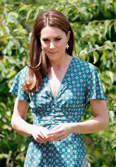 Kate Middleton outdoors green dress