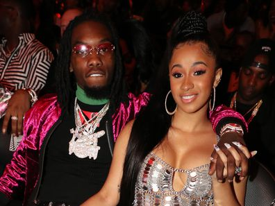 Cardi B and Offset at the 2017 BET Hip Hop Awards in Miami Beach.
