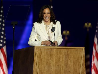 Kamala Harris speaks at Joe Biden victory rally 2020