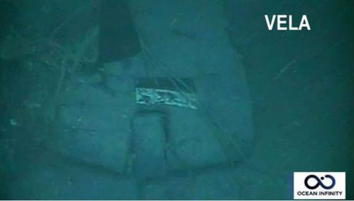 The vessel was located 907 metres in waters off the Valdes Peninsula in Argentine Patagonia.