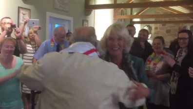Prince Charles and Camilla dance at Dumfries House