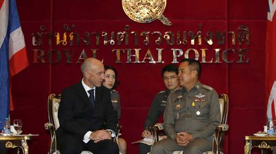The murders have caused tensions between Thailand and the United Kingdom, with British ambassador in Bangkok Mark Kent holding emergency talks with Thai national police chief Somyot Poompanmoung.