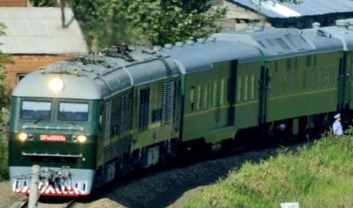 A photo taken in August 2010 in China shows a special train used by the then North Korean leader Kim Jong Il - father of Kim Jong Un. (AP).