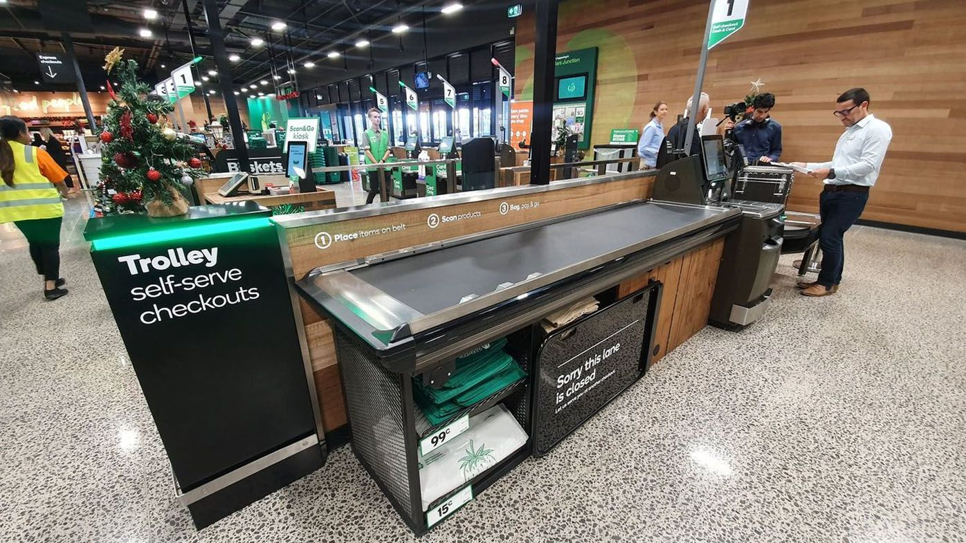 New self-service checkout for Woolworths