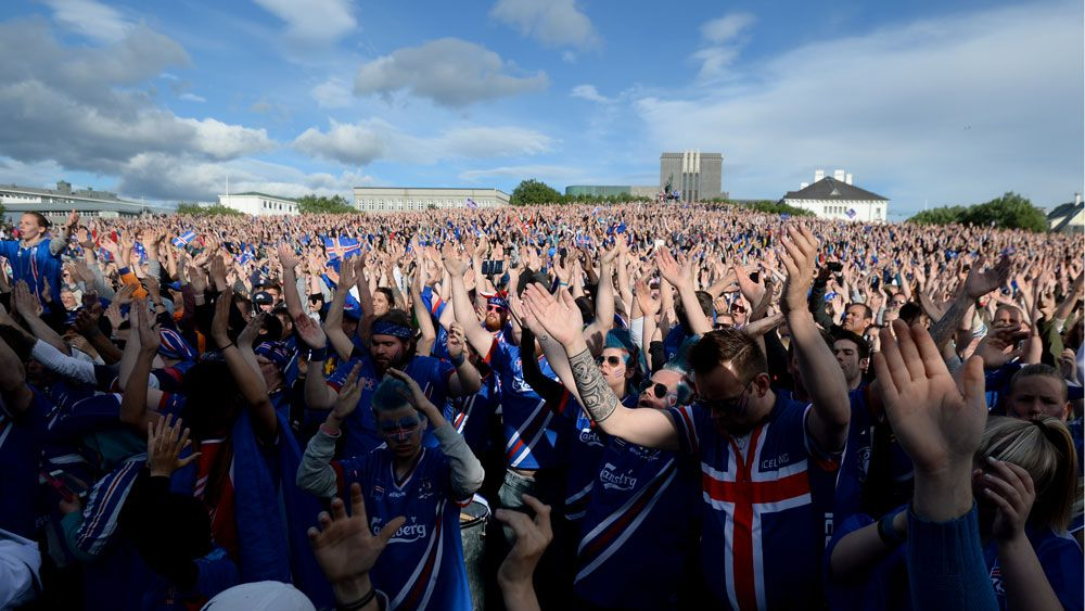 Euro 2016: Iceland fans bellow final emotional Viking's chant
