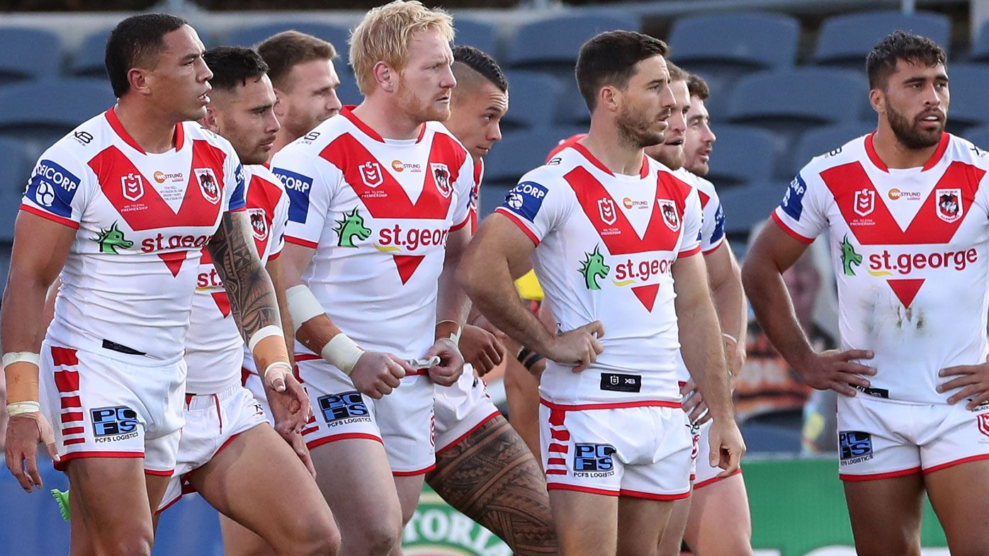 The Dragons during the Round 5 NRL match