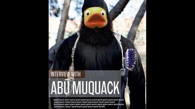 Another image parodies ISIL's English-language propaganda magazine Dabiq, which was renamed 'Quabick'.
