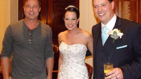 Brad Pitt crashes couple's wedding ... girls go 'wild and mental'