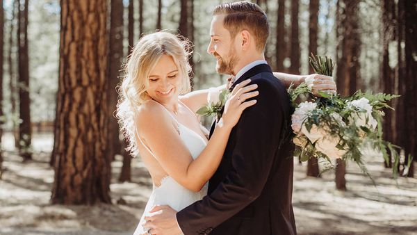 Heidi and Valentin held their 'dream wedding' in Arizona's White Mountains.