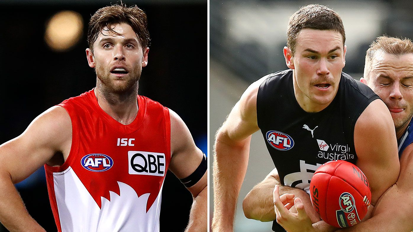 Swans Dane Rampe ruled out for season, Carlton's Mitch McGovern suffers setback