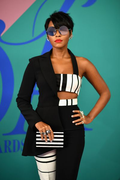 Janelle Monae in Christian Siriano at the 2017 CFDA Awards.