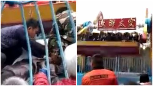 Girl dies after being thrown from Chinese theme park ride