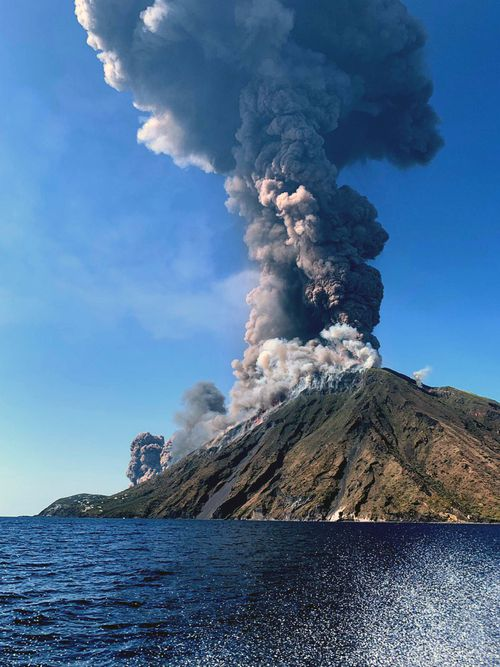 Civil protection authorities said a hiker was confirmed killed by the eruptions on Stromboli Island today.
