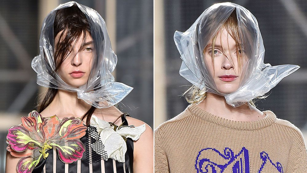 Christopher Kane offers the perfect solution for rainy-day hair