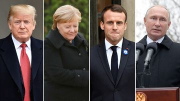 In addition to Mr Macron and Mr Merkel, Donald Trump, Vladimir Putin, and the UN Secretary-General Antonio Guterres will all attend the Armistice Day commemmorations hosted by France.