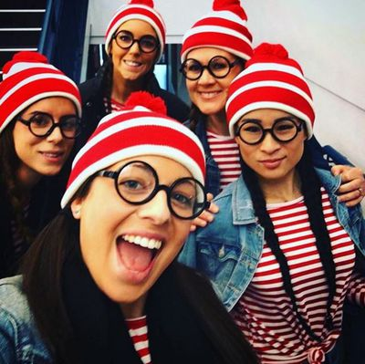 "Wally (from 'Where's Wally?' of course).You can get a Where's Wally instant kit here from <a href=""https://www.smiffys.com.au/wheres-wally-instant-kit-34589.html?gclid=EAIaIQobChMIvo-noYXg1QIVVgUqCh18PgHNEAkYASABEgIetvD_BwE"" target=""_blank"" draggable=""false"">Smiffys</a>&nbsp;or a costume for kids from <a href=""http://www.kmart.com.au/product/wheres-wally-costume---ages-4-6/1557877"" target=""_blank"">Kmart</a>."