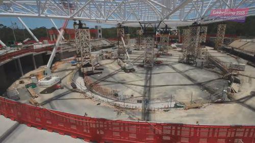 The velodrome under construction. (9NEWS)
