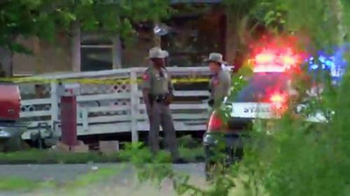 A shooting at a first birthday party in Texas has left four men dead and one wounded.