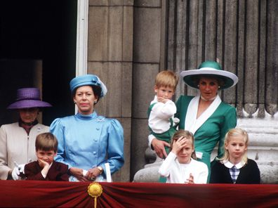 Prince William at the Trooping the Colour in 1988.