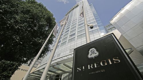 Donald Trump is expected to stay at the St Regis during his stay in Singapore.