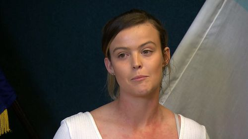 Jamie-Lee Digby has appealed for information about two men wanted over the death of her partner Luke Bray.
