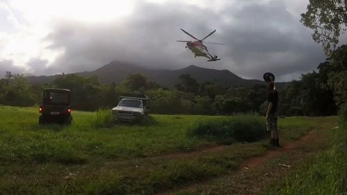 A woman was airlifted after a serious fall at Cape Tribulation.