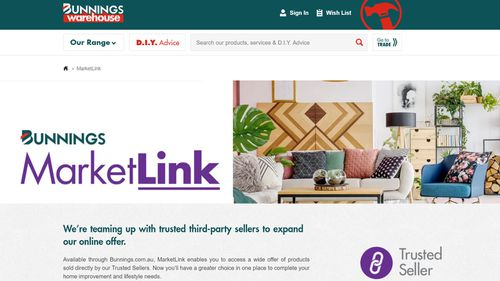 Bunnings has launched MarketLink, it's new online offering.