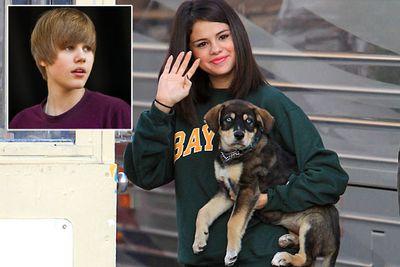 Justin Bieber and Selena Gomez adopted this adorable blue-eyed pup last year before their messy split. Lucky they didn't adopt a kid, huh!