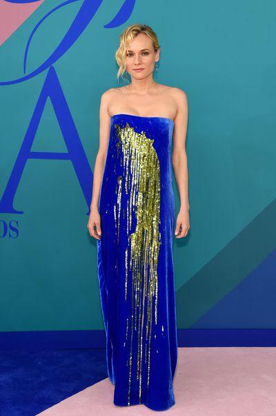 Diane Kruger in Monseat the 2017 CFDA Awards.