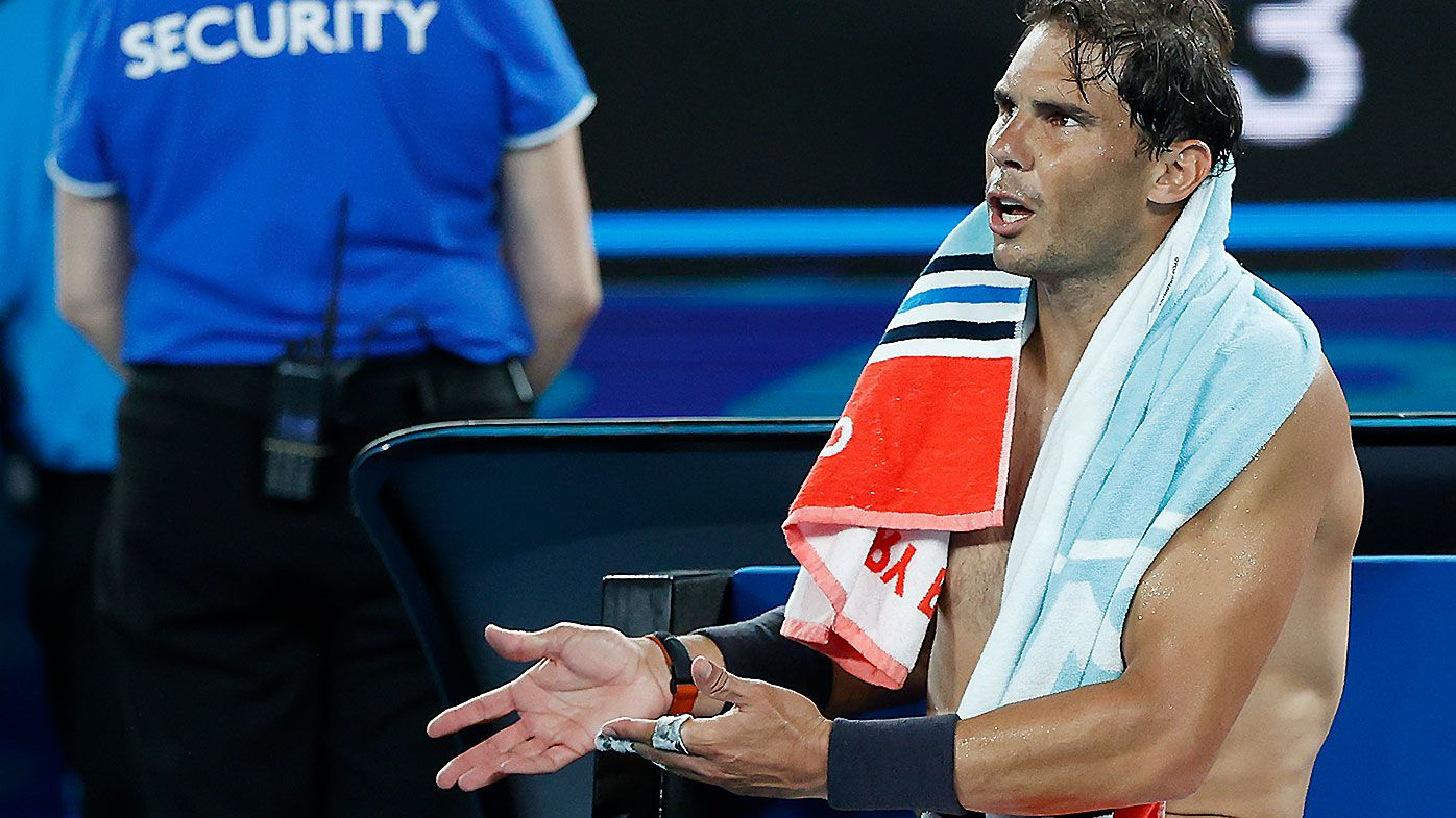 'You don't like the good tennis': Rafael Nadal 'rattled' by ongoing battle with chair umpire in Australian Open exit