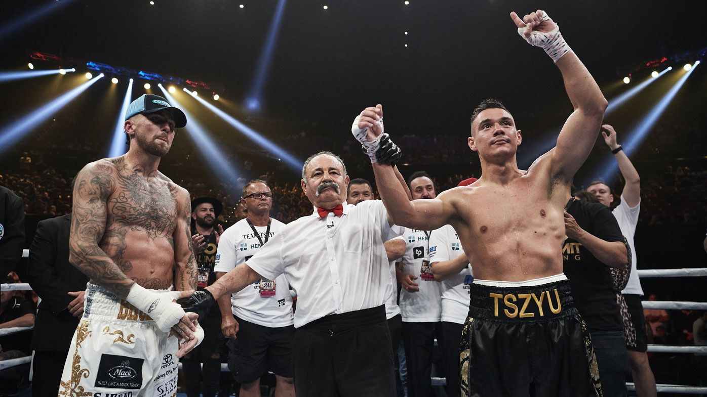 Tim Tszyu stops Jack Brubaker in four after Jeff Fenech throws in the towel