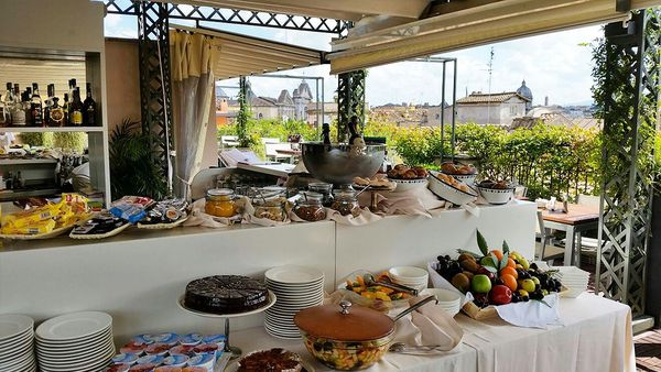 Roof terrace buffet (Hotel Indigo)