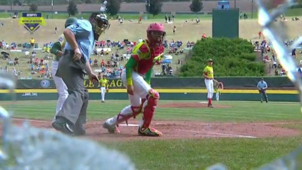 Little League pitch leaves broken glass