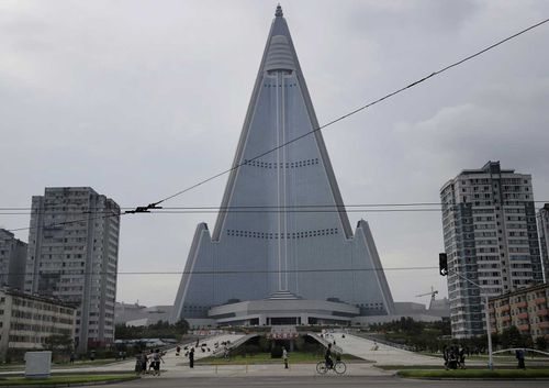 The Ryugyong Hotel is such an eyesore that North Korea edits it out of photos.