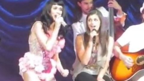 Rebecca Black and Katy Perry sing 'Friday' together