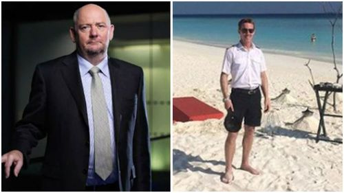 Richard Cousins and pilot  Gareth Morgan, 44. (Facebook / Supplied)