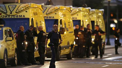 "<p>Sixteen people have been confirmed dead after a van ploughed into a crowd in Barcelona's Las Ramblas district. ISIS have claimed responsibility for the terror attack in which over 80 people have been injured.&nbsp;</p> <p>A statement form the Islamic State Group said the attack was carried out ""by soldiers of the Islamic State"", in response to target countries participating in the coalition trying to drive the extremist group from Syria and Iraq.</p> <p>About 80 people were taken to hospital after the van jumped a sidewalk and swerved through the busy strip,&nbsp;Carles Puigdemont, the president of Spain's Catalonia region confirmed.&nbsp;</p> <p>One of the men arrested has been identified as Maghrebi Driss Oukabir, and is alleged to have hired the van.</p>"
