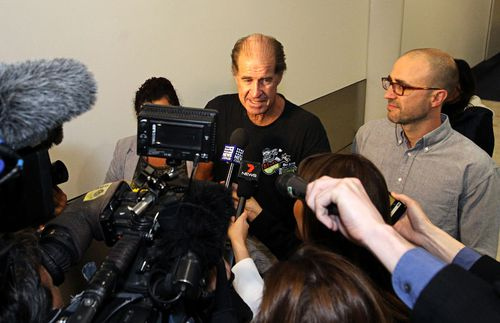 Freed filmmaker James Ricketson talks to media at Sydney Airport.