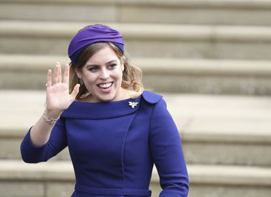 Princess Beatrice pictured at the wedding of Princess Eugenie and Jack Brooksbank in 2018