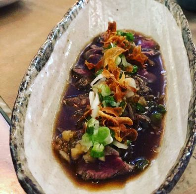 Freak Scene London beef marinated rib eye tataki