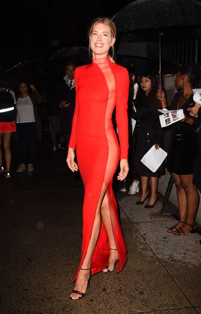Doutzen Kroes in Tom Ford at the 'F**cking Fabulous' party at New York Fashion Week, September 2017