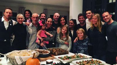 The consciously uncoupled Chris Martin and Gwyneth Paltrow with their family...
