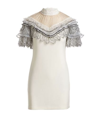Self Portrait Pleated Trim Min Dress, $453