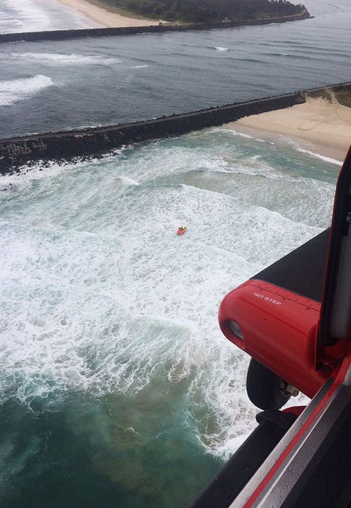 The search for a missing swimmer off the coast of Ballina, has been suspended and will resume in the morning.